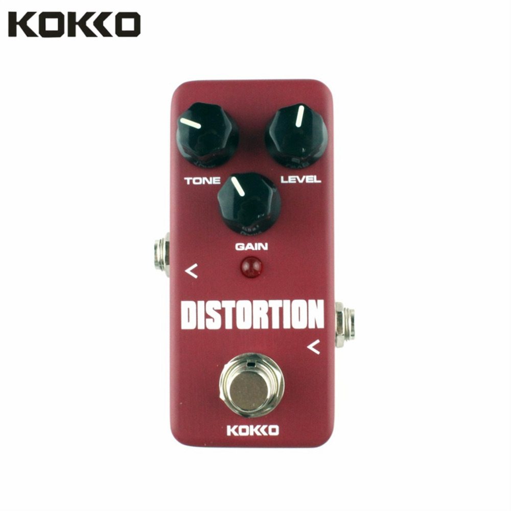 KOKKO FDS2 Mini and Portable Aluminum Alloy Distortion Pedal Portable Guitar Effect Pedal Guitar Parts & Accessories Red Color social distortion social distortion somewhere between heaven and hell lp