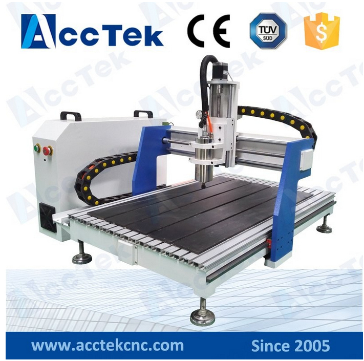 AccTek Linear Guide Rail 6040 6090 cnc carving marble granite stone cnc router machine with 1.5kw spindle for wooden metal