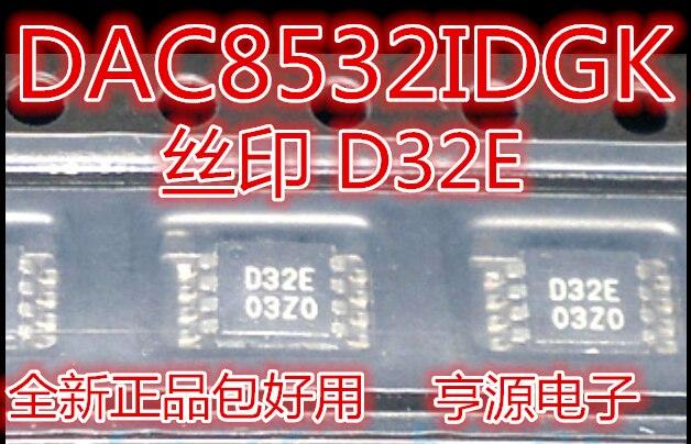 1pcs/lot DAC8532IDGKR DAC8532IDGK DAC8532 D32E VSSOP81pcs/lot DAC8532IDGKR DAC8532IDGK DAC8532 D32E VSSOP8