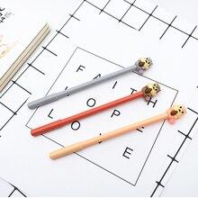 цена на 3pcs/lot Creative squirrel gel pen 0.38mm Gel Ink pen black pen student kawaii office supplies Neutral pen stationery