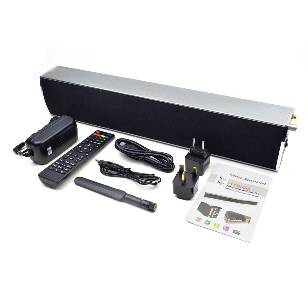Mecool KS2 Suara Bar DVB-T2 Android Smart TV Box S905 Quad-Core 1GB 8GB Jelas Speaker Android set Top Box Media Player