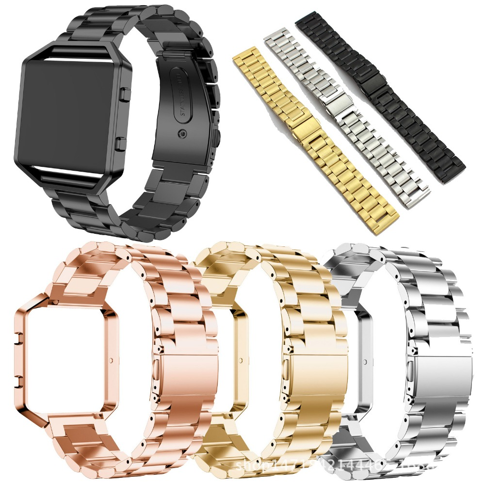 Watchband for Fitbit Blaze Stainless Steel Replacement Strap for Fitbit Blaze Wearlizer Smart Watch Band with Metal Frame Silver платье длинное в полоску