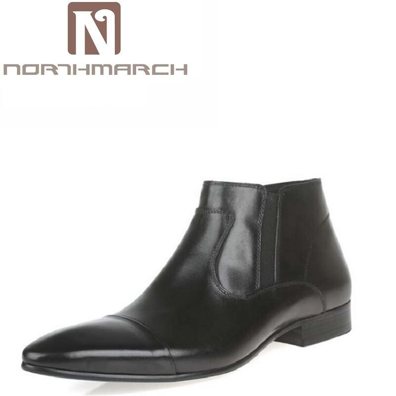 NORTHMARCH Luxury Brand Ankle Boots Men Retro Zipper Chelsea Boots Mens Genuine Leather Boots Botas Hombre Men Fomal Dress Shoes tle6251g tle6251 2g