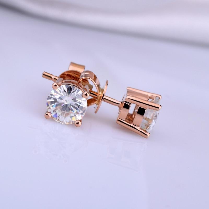 18K oro un par de pendientes 1CT D Color Moissanite pendientes para mujer M 0.2-in Aretes from Joyería y accesorios    1