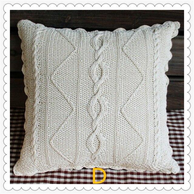 2016 moda flores de ganchillo de algodón almohada cubierta para sofá ...