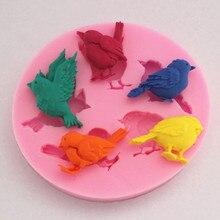 Птицы Силиконовые формы для тортов мыло в форме шоколада для кухни выпечки Sugarcraft FM065