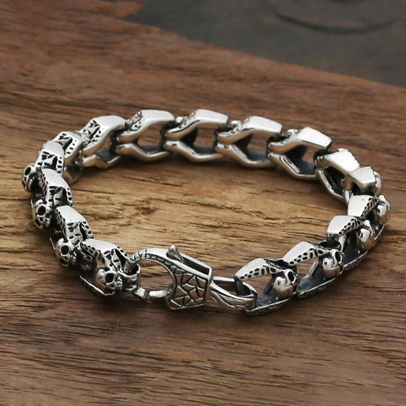 Zabra Luxury 925 Sterling Silver Bracelets Man High Polish Curb Link
