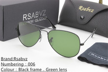 Free Delivery Rsabvz Brand Designer Fashion Unisex Glass Lens Coating Mirror Sunglasses Women 2017 Round Male Eyewear For Men