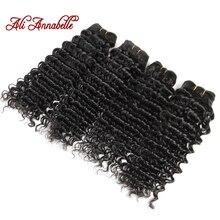 Ali Annabelle Hair 4 Bundles Malaysian Deep Wave Hair 10-28