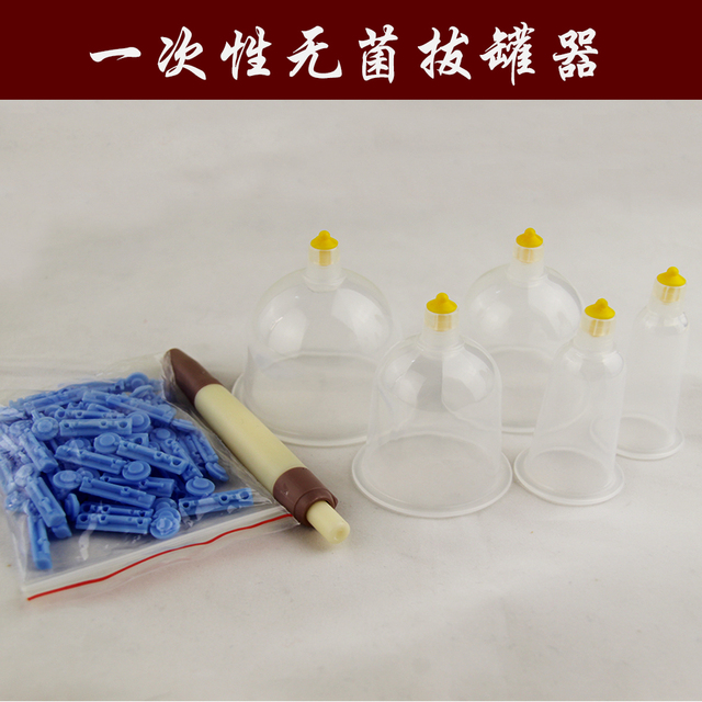 5 sizes Disposable sterile cupping apparatus Massage Vacuum cupping set Suction Cups Device Massager Health Therapy