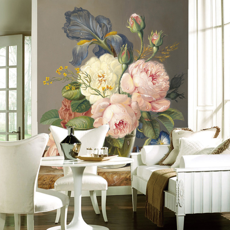 Custom 3D Photo Wallpapers European Painting Floral Wall Mural Non-woven Wall papers for Bedroom Living Room TV wall Home Decor milan classical wall papers home decor non woven wallpaper roll embossed simple light color living room wallpapers wall mural