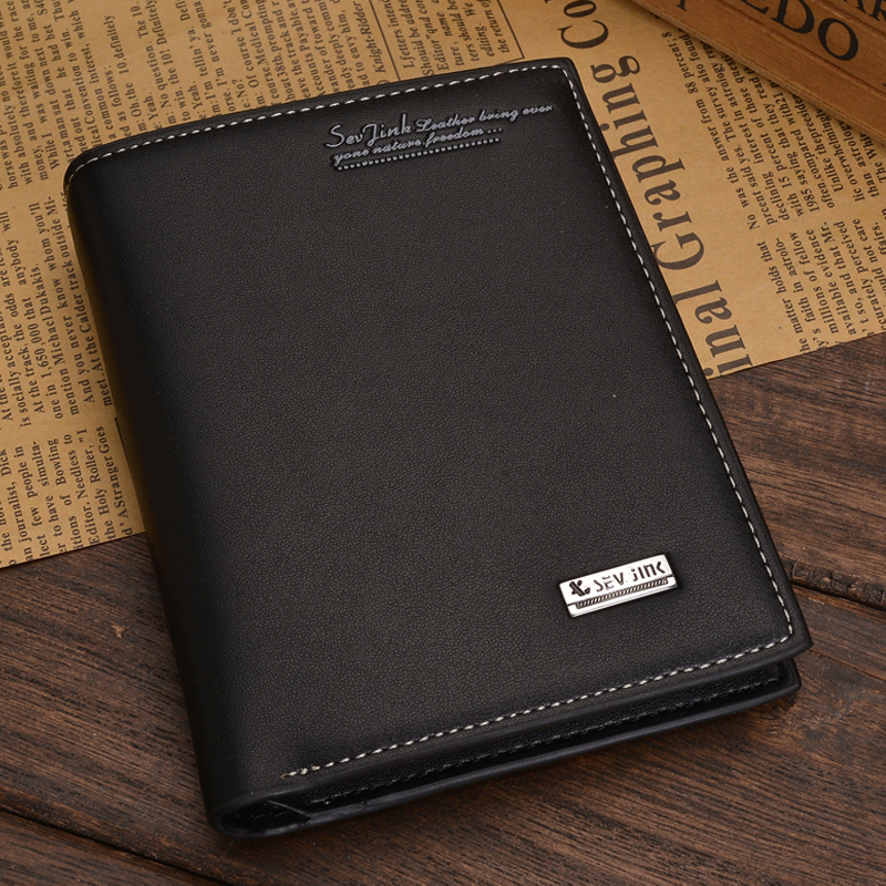 High Quality Soft Leather wallet men vintage style Baellery