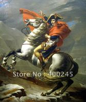 High quality Portrait oil painting of Napoleon crossing the Alps by Jacques Louis David Hand painted Reproduction arts canvas