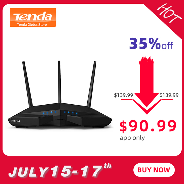 Tenda AC18 1900 Мбит/с двухдиапазонный ГБ беспроводной WiFi маршрутизатор, WiFi ретранслятор, 1300 Мбит/с на 5 ГГц, 600 Мбит/с на 2,4 ГГц, USB 3,0