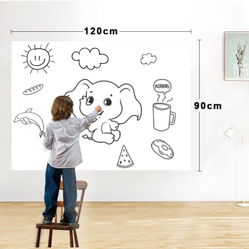 الجافة محو سبورة بيضاء مغناطيسية فيلم سطح للجدران ، الأبواب ، الجداول ، السبورات ، ألواح الكتابة ، سوبر لزجة ، وصمة عار واقية ، سهلة التركيب-في سبورة بيضاء من لوازم المكتب واللوازم المدرسية على  مجموعة 1