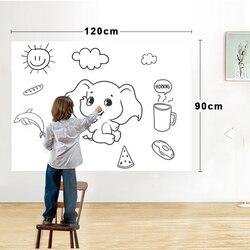 Droge Wissen Magnetische Whiteboard Film Oppervlak voor Muren, Deuren, Tafels, Krijtborden, Whiteboards, Super Sticky, vlek-Proof, Gemakkelijk installeren