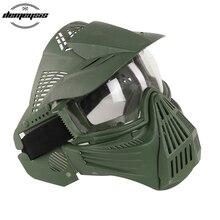 Тактическая Маска на все лицо с линзами для охоты, страйкбола, пейнтбола, CS игровая маска, защитные тактические маски