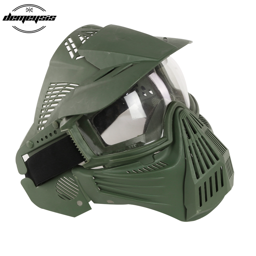 Tactical Full Face Mask With Lens Hunting Airsoft Paintball CS Game Mask Eyes Protective Tactics Masks