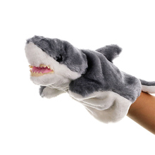 1 Pcs Hand Puppet Glove Toy Cute Cartoon Animal Shark Doll Figure Toys Puppets For Kids Marionetes Fantoche