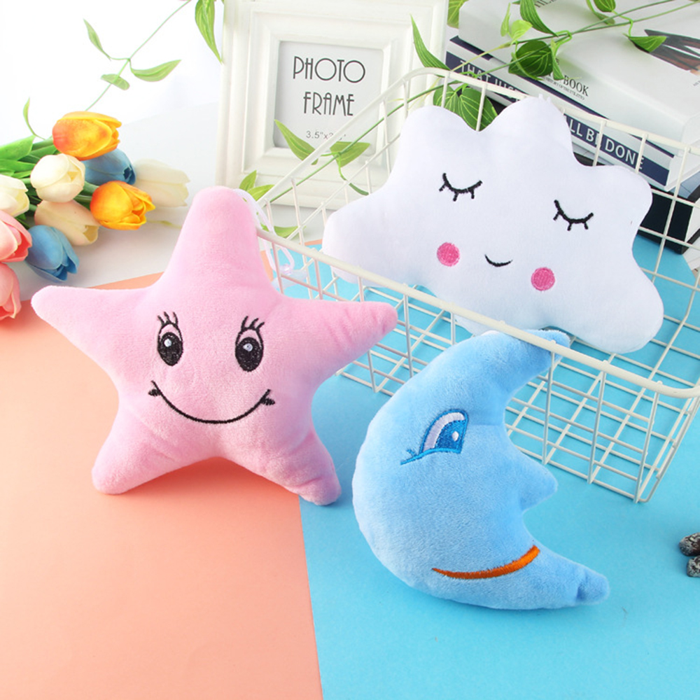 Star Moon Clouds Baby Pillow Plush Baby Room Decor Bedding Crib Decoration Infantil Pillow Doll Rabbit Emoticon Pillow Cushion