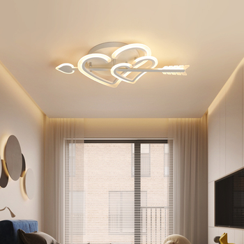 New Creative personality LED ceiling lamp love simple and sweet romantic wedding room children room girl Princess bedroom lamp