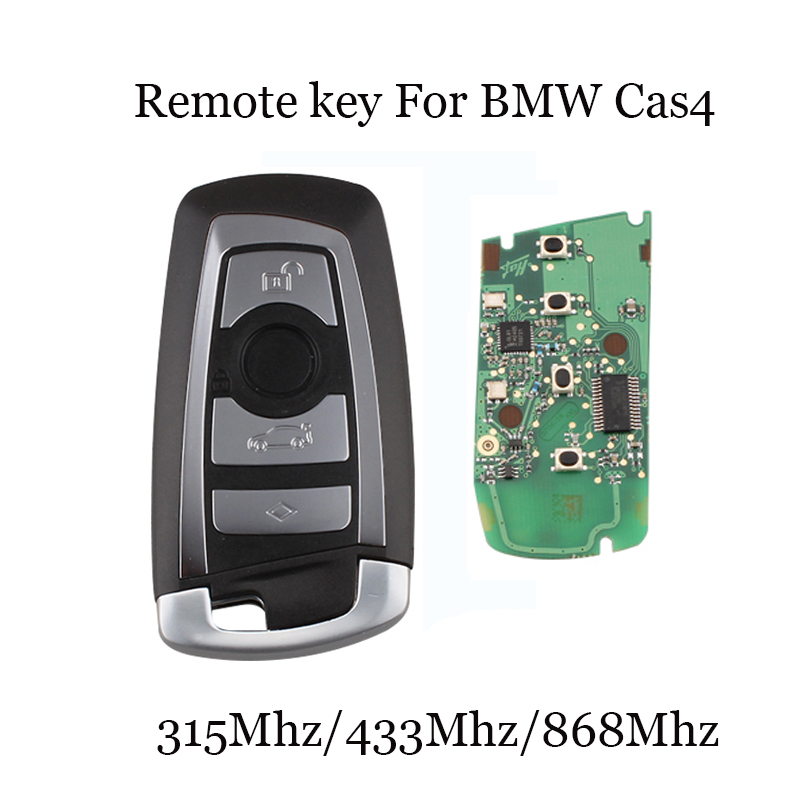 315/433/868 Mhz Smart Remote Key 4 Buttons For BMW 3 5 7 Series CAS4 System 2009 2010 2011 2012 2013 2014 2015 2016 KR55WK49863 43 2012