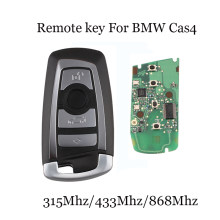 315/433/868 Mhz Smart Remote Key 4 Buttons For BMW 3 5 7 Series CAS4 System 2009 2010 2011 2012 2013 2014 2015 2016 KR55WK49863(China)
