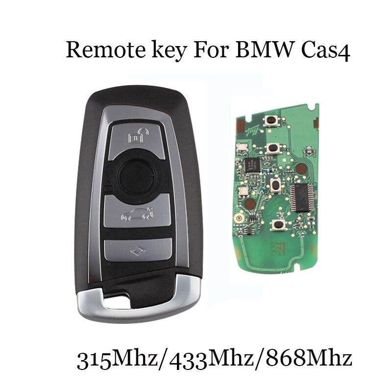315/433/868 Mhz 4 Botões Chave Remoto Inteligente Para BMW 3 5 7 Série CAS4 Sistema 2009 2010 2011 2012 2013 2014 2015 2016 KR55WK49863