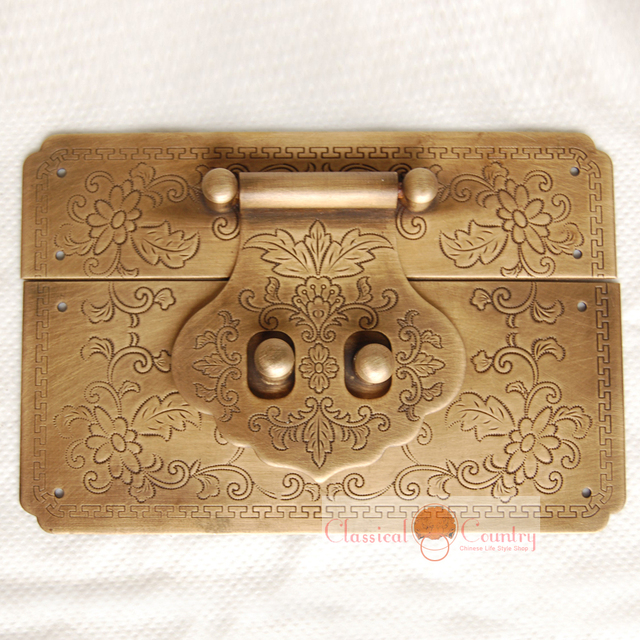Antique Chinese Furniture Hardware Brass Latch Catch for Trunk