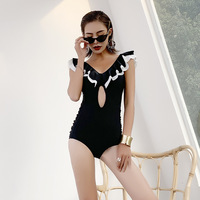 One Piece Swimsuits Women Swimsuit Solid Female Thong Summer New Sexy For 2019 Cotton Sierra Surfer Bathing Suit Push Up Womens