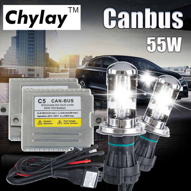 C5 55w Canbus H4 Hid Bi Xenon Conversion Kit High Low Beam
