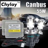 Comprar C5 55W CANBUS H4 HID bi-xenon conversión Kit alto/bajo haz 4300K 6000K 8000K xenón balastro bombilla faro de coche lámpara