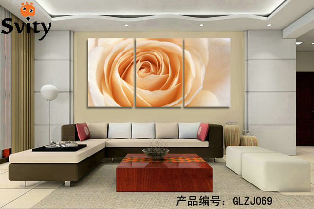3Panels Flower Home Decoration Living Room Wall Painting HD Wall Art  Picture On Canvas Prints Decor Part 65