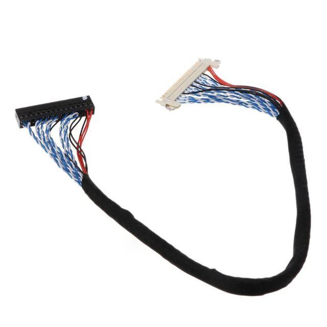 Ganchos Cable LVDS D8 FIX 30P D8 FIX 30 pasadores dobles 2CH 8 bit 1,0mm Pitch