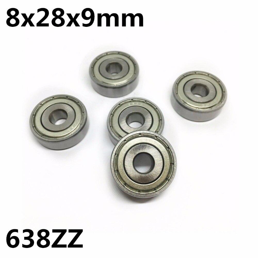 10Pcs 638ZZ 638-2Z 8x28x9 mm Deep groove ball bearing Miniature bearing High qualit 638Z
