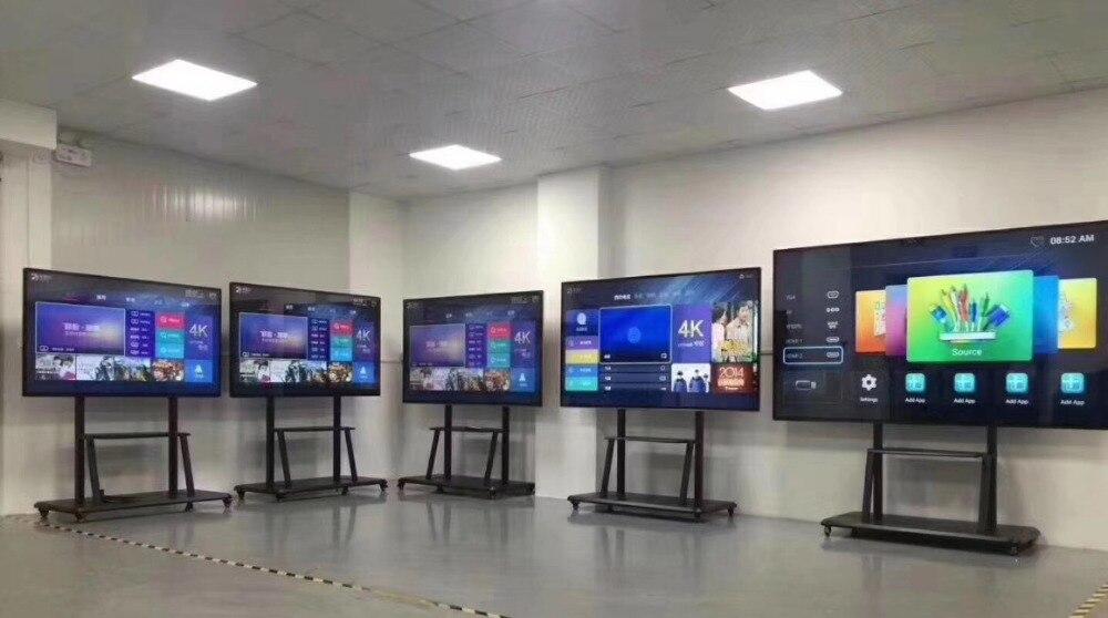 I7 100 дюйма 4 K светодиодный ТВ/супер ТВ LAN/WI FI сети smart телевидения с сенсорным экраном и ПК собран в