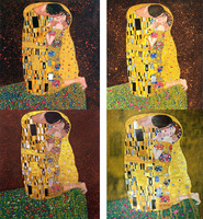 Hand Painted oil paintings Reproduction Gustav Klimt The kiss lovers Art Canvas Figure Painting woman Golden Wall decor Framed