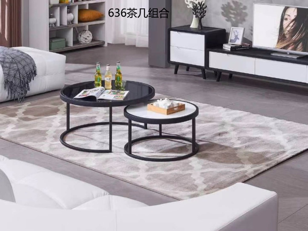 0621CJ636 Modern round metal frame Tempered glass surface living room furniture coffee tea table round combination round table giantex rectangular coffee table tempered glass top metal frame living room furniture living room furniture hw57282