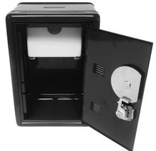 Safe Box Design Mini Petty Cash Money Box Stainless Steel Security Lock Lockable Metal Safe Small Fit for House Decoration digital safe box small household mini steel safes money bank safety security box keep cash jewelry or document securely with key