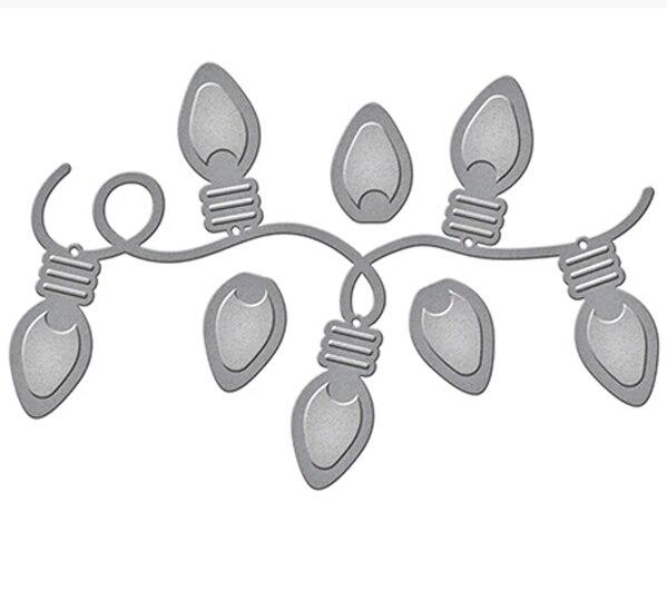 Holiday Twinkle Lights Metal Cutting Dies 3D DIY Scrapbooking fustelle Sharp Craft Die Photo Invitation Cards Decoration 89*59mm