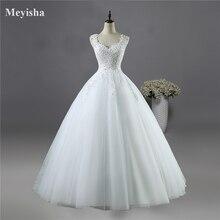 ZJ9076 New White Ivory Crystal Pearl Lace Wedding Dresses 2017 Bridal Dress gown vestido de noiva lace up back size 2-26W custom