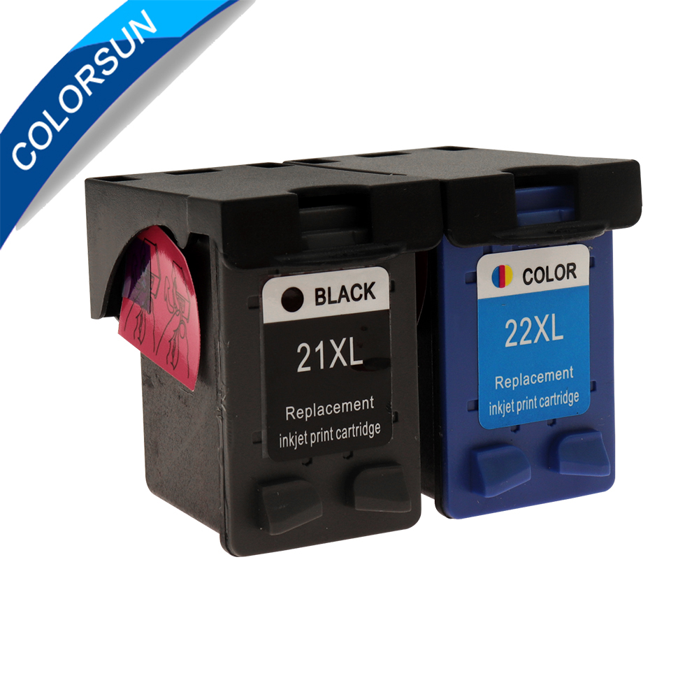 Colorsun <font><b>21</b></font> <font><b>22</b></font> Ink <font><b>Cartridge</b></font> Replacement for HP21 for <font><b>HP</b></font> <font><b>21</b></font> xl for Deskjet F2180 F2200 F2280 F4180 F300 F380 380 D2300 printer image