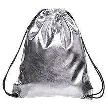Argent Solide PU sac à dos femmes mochilas mujer 2016 Nouveau sac à dos en cuir mochila masculina sacs à dos sacs d'école pour les adolescents