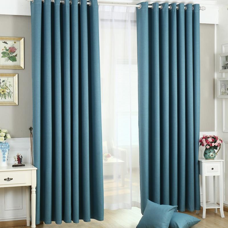 tienda online cortinas modernas de estilo minimalista sala de estar beding comedor de lino de color puro cortinas a medida cortinas de hilo tejido