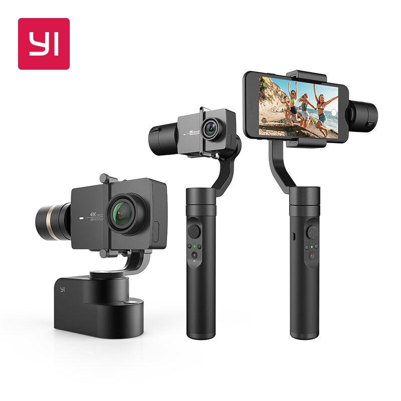 YI 3-Eixo Cardan Handheld Handheld Estabilizador para Smartphone Ou YI 4 k, 4 k Plus, YI Lite Action Camera