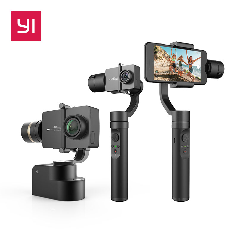 YI Handheld Gimbal 3-Axis Handheld Stabilizer for Smartphone or YI 4K, 4K Plus, YI Lite Action Camera