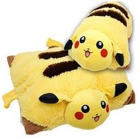 Pikachu Animal Dolls 42 30 CM Pokemon Plush Toys Children Pocket Folding Pillow Send Kids As
