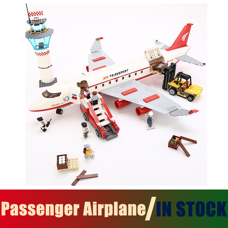 Compatible with lego City Models building toy Building Blocks Passenger Airplane 856 pcs toys & hobbies birthday gift lepin 02012 city deepwater exploration vessel 60095 building blocks policeman toys children compatible with lego gift kid sets