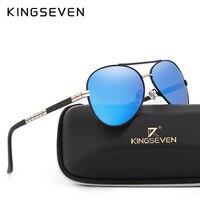 KINGSEVEN Classico della Moda Occhiali Da Sole di Marca degli uomini HD Alluminio Polarizzato Guida occhiali Da Sole di Design di Lusso Per gli uomini UV400 Oculos