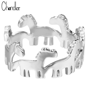 Wholesale 10pcs Silver Gold Plating Dala Horse Stack Ring Animal Adjustable Love Jewelry For Women Midi Finger Anillos Brand New
